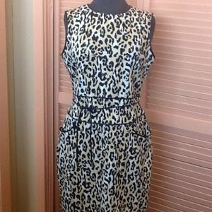 Calvin Klein animal print dress Size 8